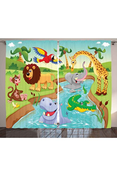 Orange Venue Çocuklar Için Perde Havuz Partisi Hayvanlar