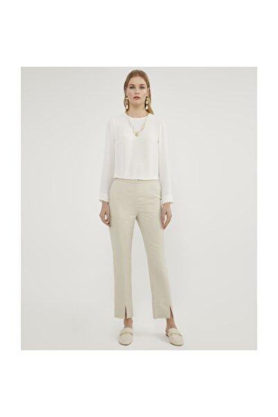 Aker Yırtmaçlı Taş Pantolon V35890236