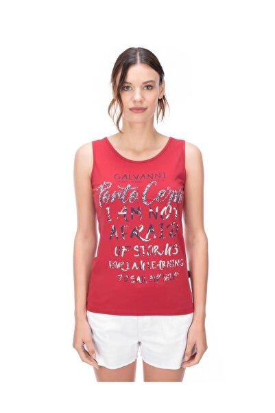 Galvanni Kadın Kırmızı T-shirt - Tıba