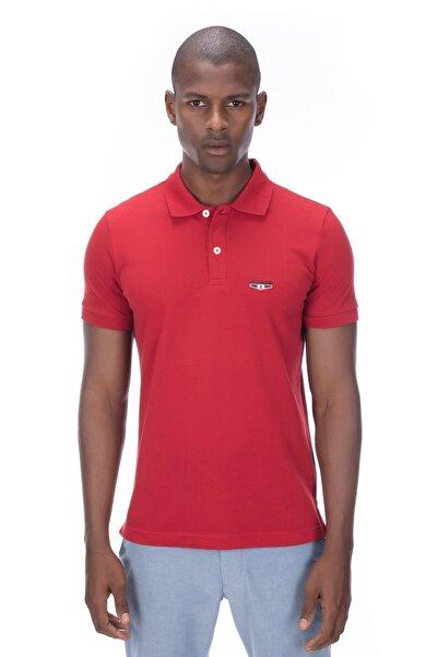 Erkek Kırmızı Polo T-shirt - Logs