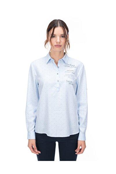 Galvanni Kadın Açık Mavi Gömlek - Jabla