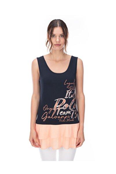 Galvanni Kadın Lacivert T-shirt - Maceıo
