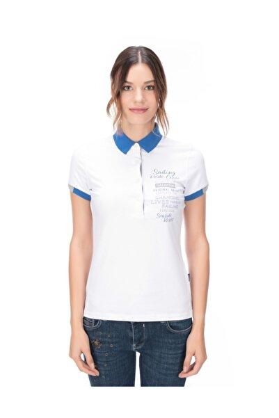 Galvanni Kadın Beyaz Polo T-shirt - Forto