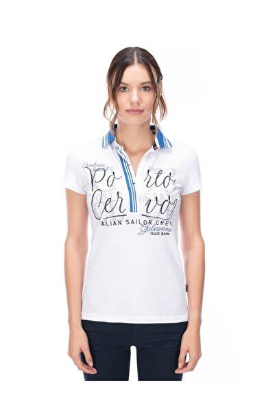 Galvanni Kadın Beyaz Polo T-shirt - Recıfe