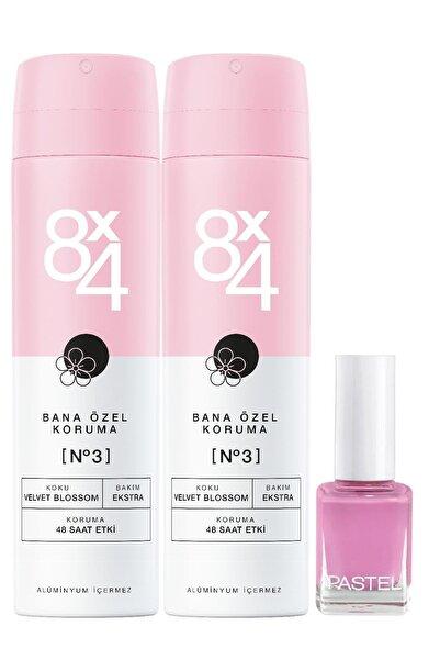 8x4 No.3 Velvet Blossom Kadın 2'li Sprey Deodorant 150 ml & Oje