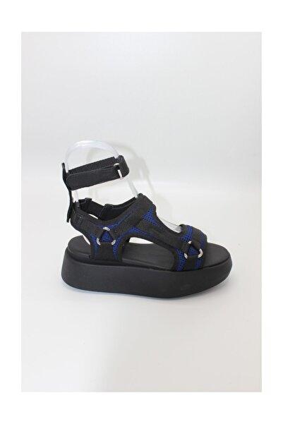 ALBERTO GUARDIANI Mavi Siyah Kadın Sandalet Sd60457b/---/yn7800