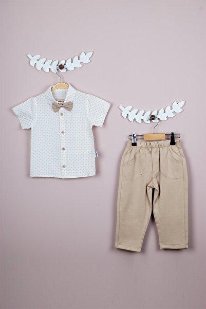 Papyonlu Gömlek Ve Pantolon Erkek Bebek Takımı