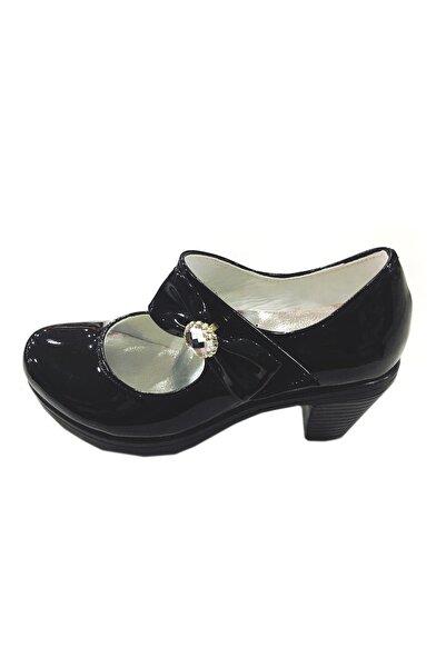 Afacan Kız Çocuk Siyah Rugan Topuklu Balo Abiye Ayakkabı, 27-36 Numara