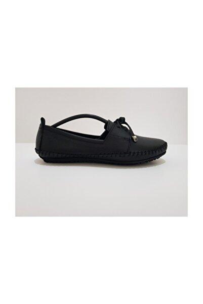 Özgül Hakiki Deri Günlük Babet Ayakkabı