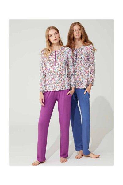 Feyza Pijama Uzun Kol Bayan Pijama Takım