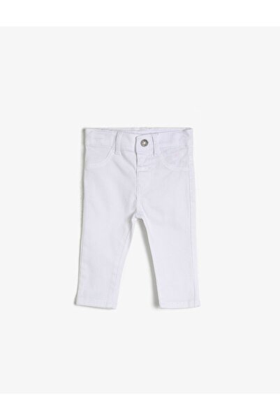Koton Kids Beyaz Erkek Bebek Pantolon