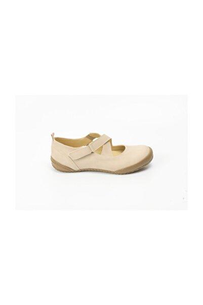 Ayakkabin11 Yeni Sezon Tam Ortopedik Günlük Ayakkabı Krem Rengi
