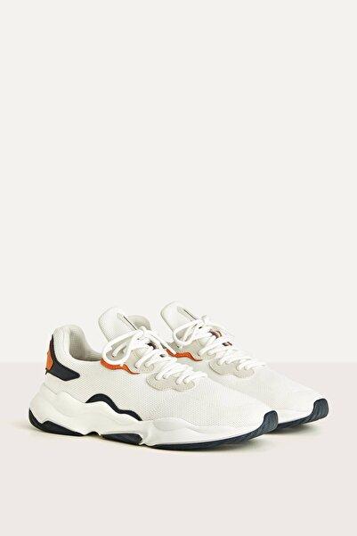 Bershka Erkek Beyaz Kontrast File Spor Ayakkabı 12302560