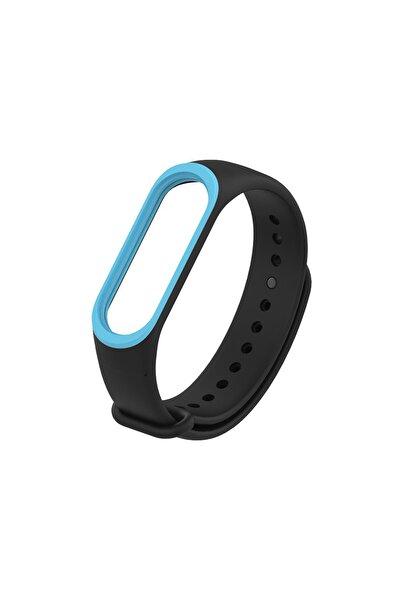 Xiaomi Mi Band 4/3 Akıllı Bileklik Kordon Antialerjik Silikon Siyah-mavi