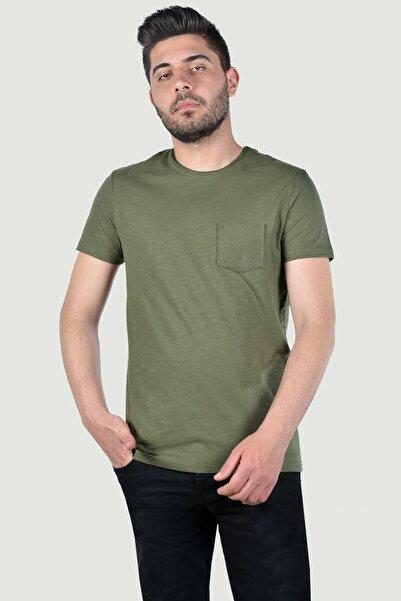 Terapi Men Erkek Kısa Kollu Cepli T-Shirt 20Y-3400628 Haki