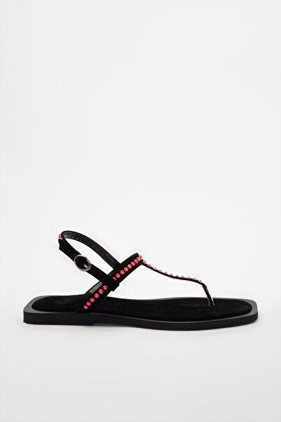 TRENDYOLMİLLA Fuşya Neon Taşlı Kadın Sandalet TAKSS20SD0079