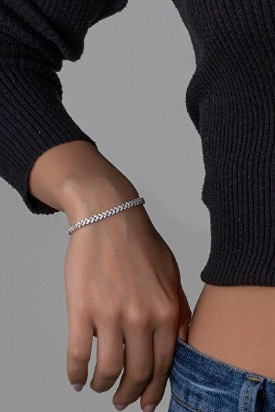 Else Silver Kadın Başak Yolu Gümüş  Bilekliği