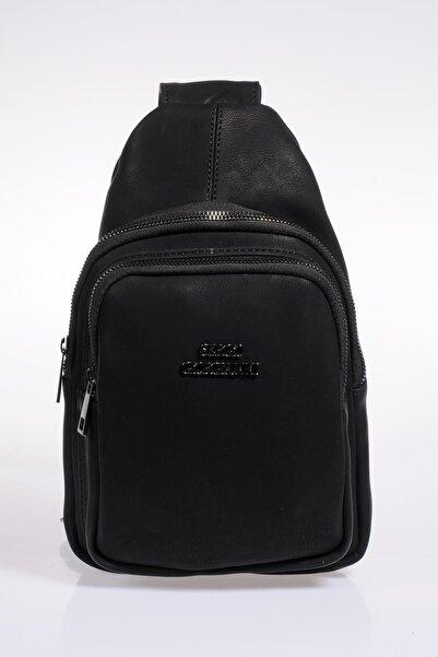 Sergio Giorgianni Kadın Siyah Sırt Çantası 25032019-siyah