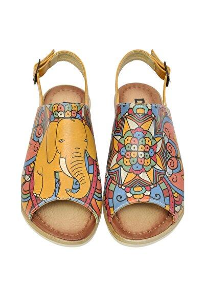 Dogo Çok Renkli Kadın Sandalet DGS017-BLM002