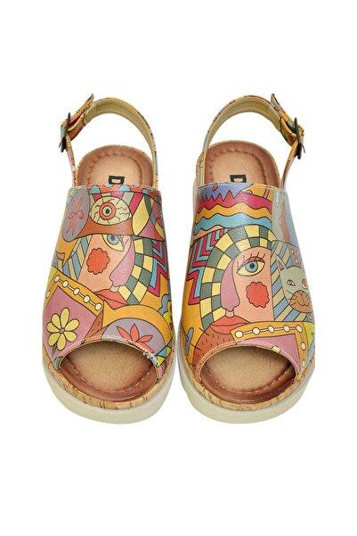 Dogo Artsy Kadın Kalın Tabanlı Düz Sandalet