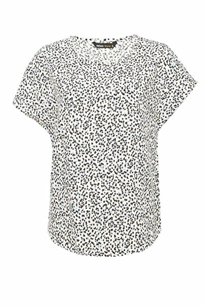 DeFacto Kadın Beyaz Regular Fit Kısa Kollu Bluz N5527AZ.20SP.WT43