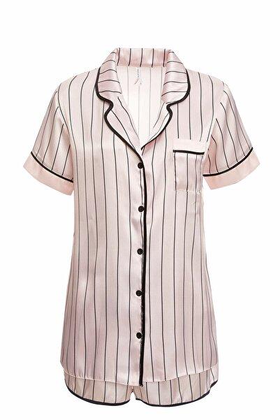 DeFacto Kadın Pembe Regular Fit Dokuma Pijama Takımı R3642AZ.20SP.PN1