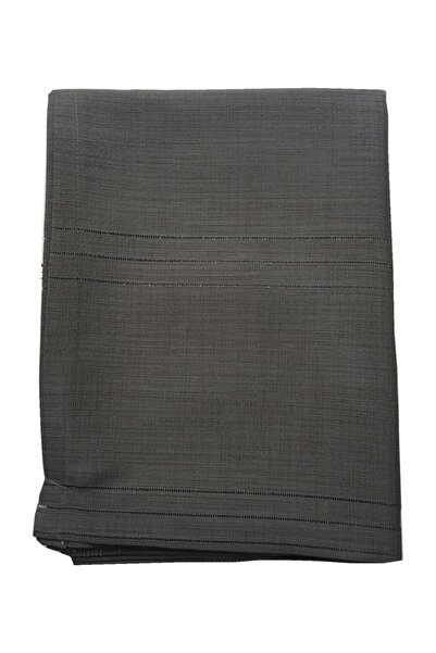 erciyesceyiz Keten Kumaş Çizgi Masa Örtüsü 160*220 Cm Siyah
