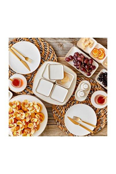 Bella Maison Allure 21 Parça 6 Kişilik Kahvaltı Seti Beyaz