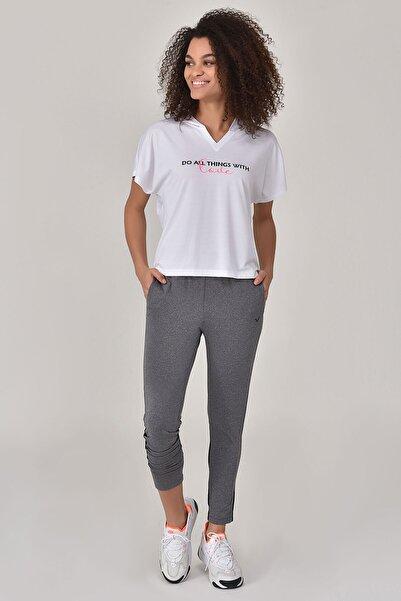 Beyaz Kadın T-Shirt GS-8607
