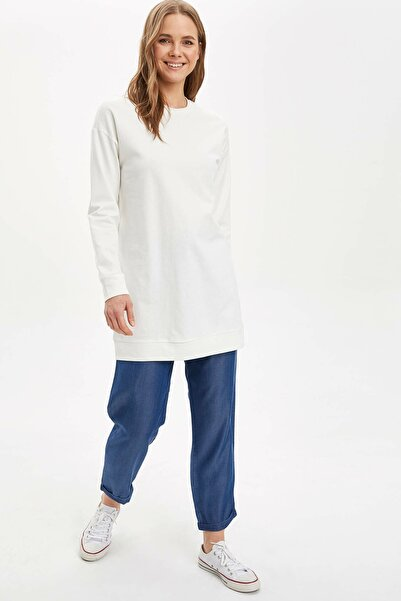 Kadın Mavi Relax Fit Dokuma Pantolon N5664AZ.20SM.BE89