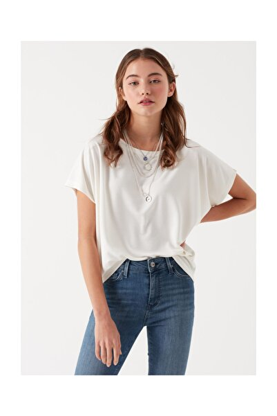 Kadın Beyaz Modal T-Shirt 167245-25705