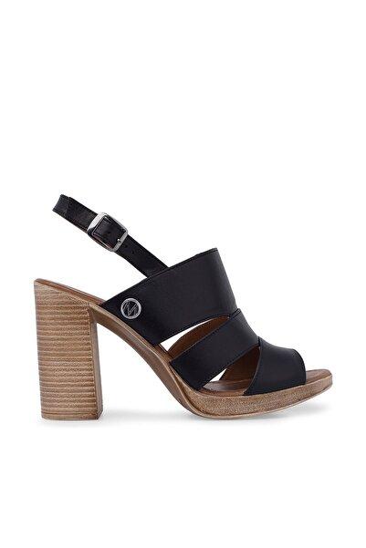 Via Dante Hakiki Deri Siyah Kadın Sandalet 5273506VD