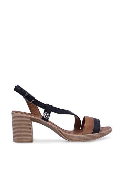 Via Dante Hakiki Deri Siyah Taba Kadın Sandalet 5273502VD