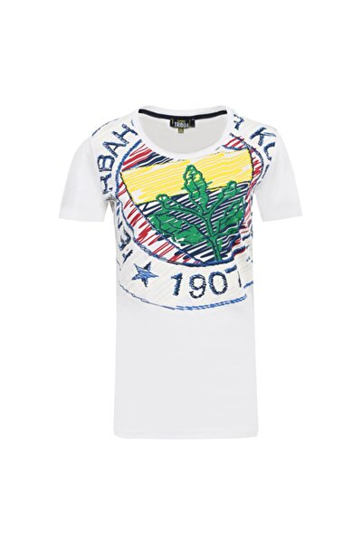 Fenerbahçe Kadın Beyaz Logo Tshırt
