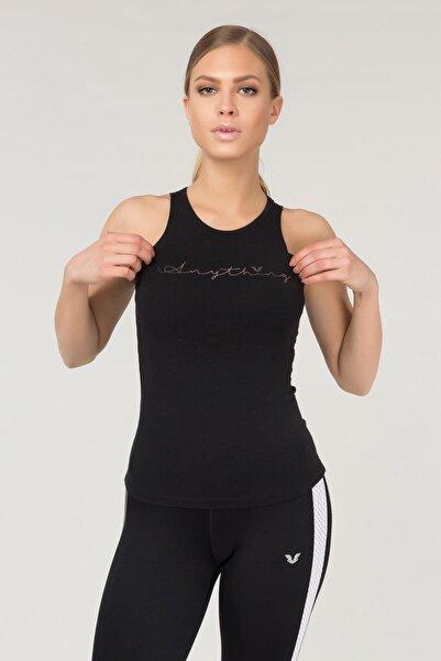 Siyah Pamuklu Yoga Kadın Atleti FS-4018
