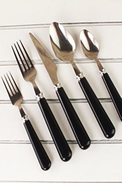 Siyah 30 Parça Çatal Kaşık Bıçak Takkımı