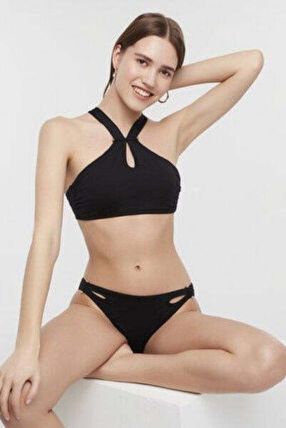 Kadın Siyah Arty Halter Bikini Üstü