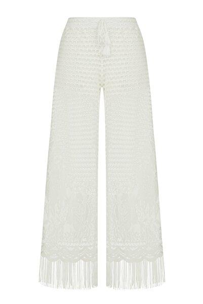 Penti Kadın Beyaz Lace Pantolon
