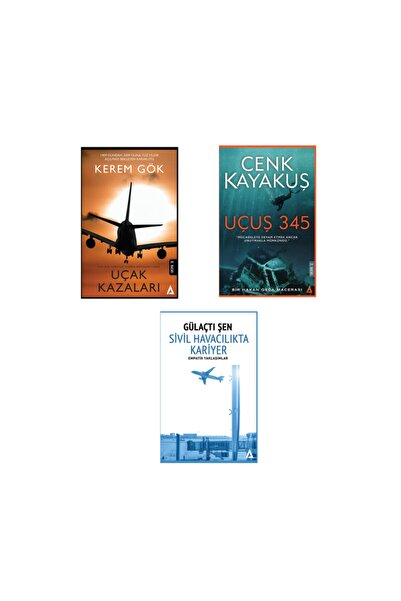 Kanon Kitap 3'lü Set Kitap -Uçak Kazaları / Sivil Havacılıkta Kariyer / Uçuş 345