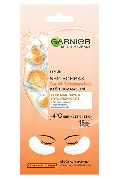 Garnier Göz Altı Torbalarına Karşı Kağıt Göz Maskesi Portakal Suyu 3600542154802