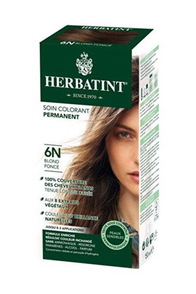 Kalıcı Bitkisel Saç Bakım Boyası - 6N Dark Blond Koyu Sarı 150 ml 8016744500067
