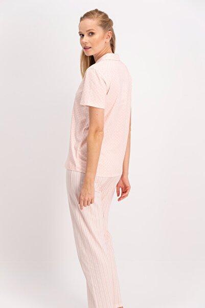 Living Somon Kadın Gömlek Pijama Takımı