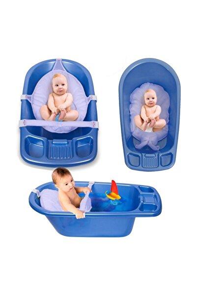 Sevi Bebe Çok Fonksiyonlu Banyo Minderi Ve Küvet Filesi Mavi