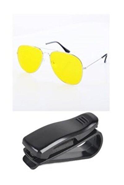 Metal Çerçeve Gece Sürüş ve Sis Gözlüğü Gözlük Tutucu