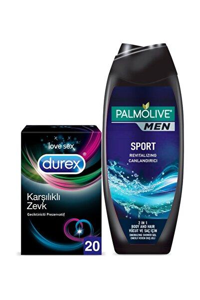 Durex Karşılıklı Zevk Geciktiricili 20'li Prezervatif +Palmolive Men Sport Erkek Duş Jeli 500 ml