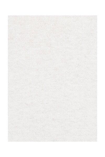 Kadın V Yaka Beyaz Kazak 171000-26829
