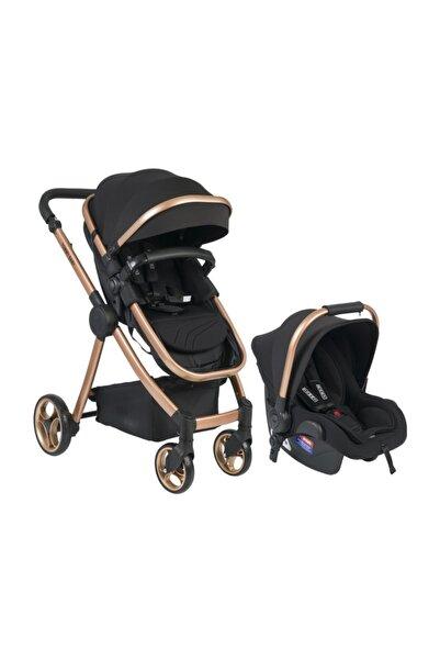 Toranto Gold Vip Travel Sistem Bebek Arabası + Puset Siyah /