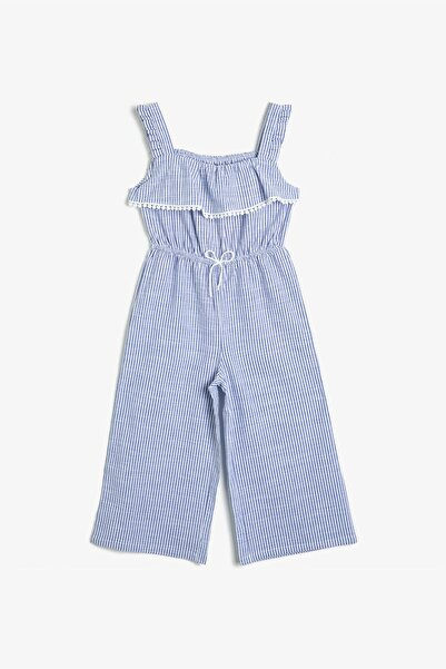Koton Kız Çocuk Mavi Çizgili Tulum 0YKG48173AW