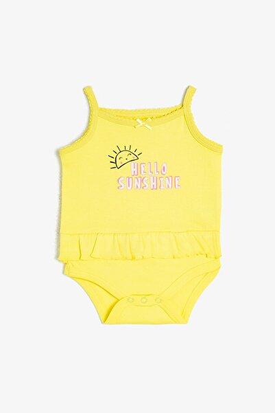 Koton Kids Sarı Desenli Kız Bebek Bebek Takımları