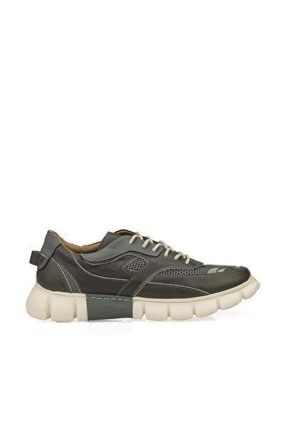 Uniquer Erkek Hakiki Deri Ayakkabı 10112U 2501 GRI